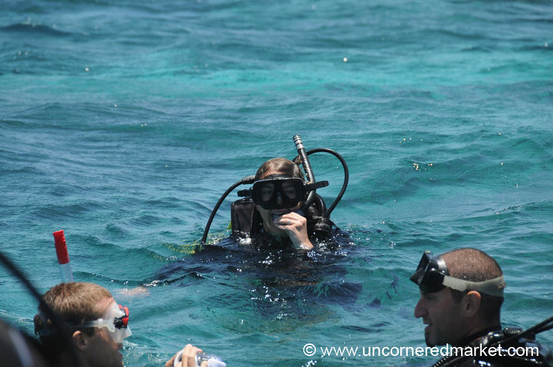 Audrey Goes Scuba Diving - Utila, Honduras