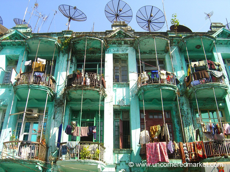 Apartment Building - Rangoon, Burma (Yangon, Myanmar)