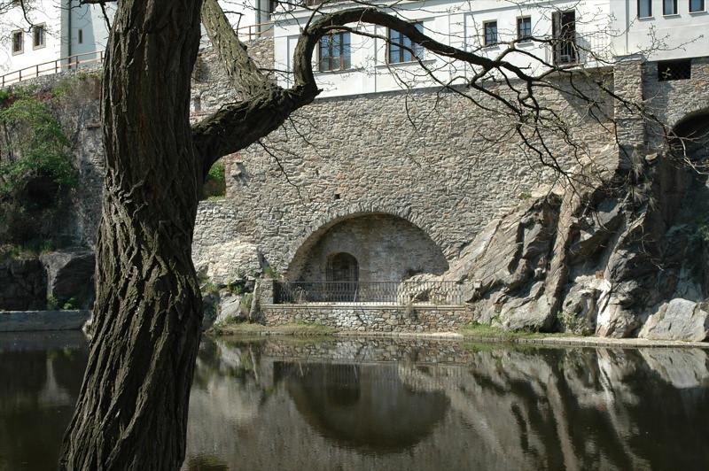 Reflections on the Vltava River - Cesky Krumlov, Czech Republic