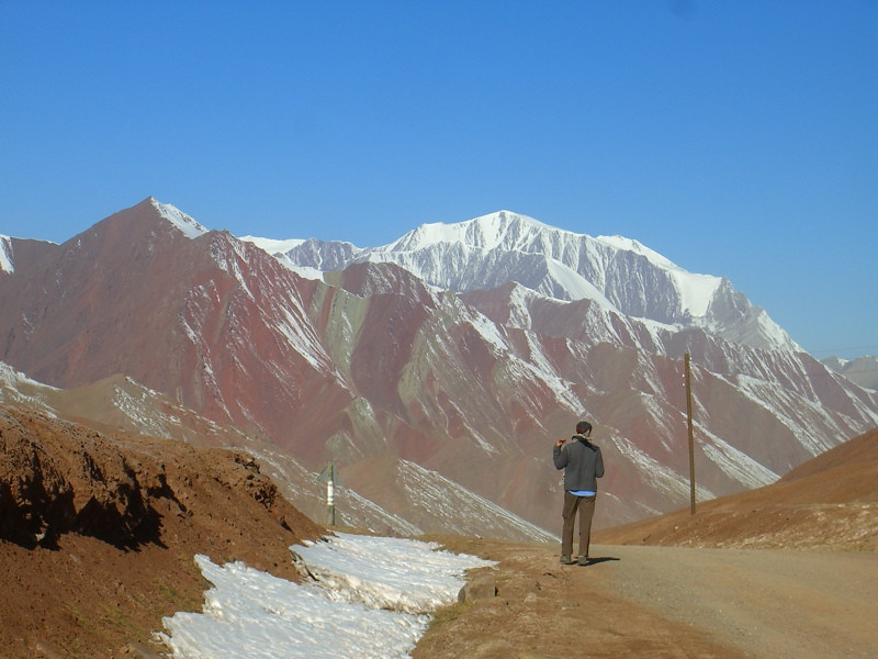 Snow-Capped Mountains - Taldyk Pass, Kyrgyzstan