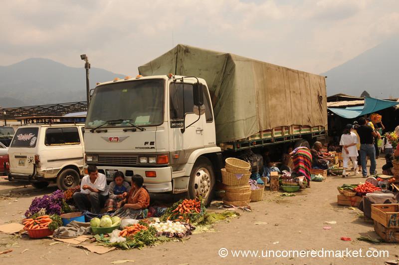Outside Central Market - Antigua, Guatemala
