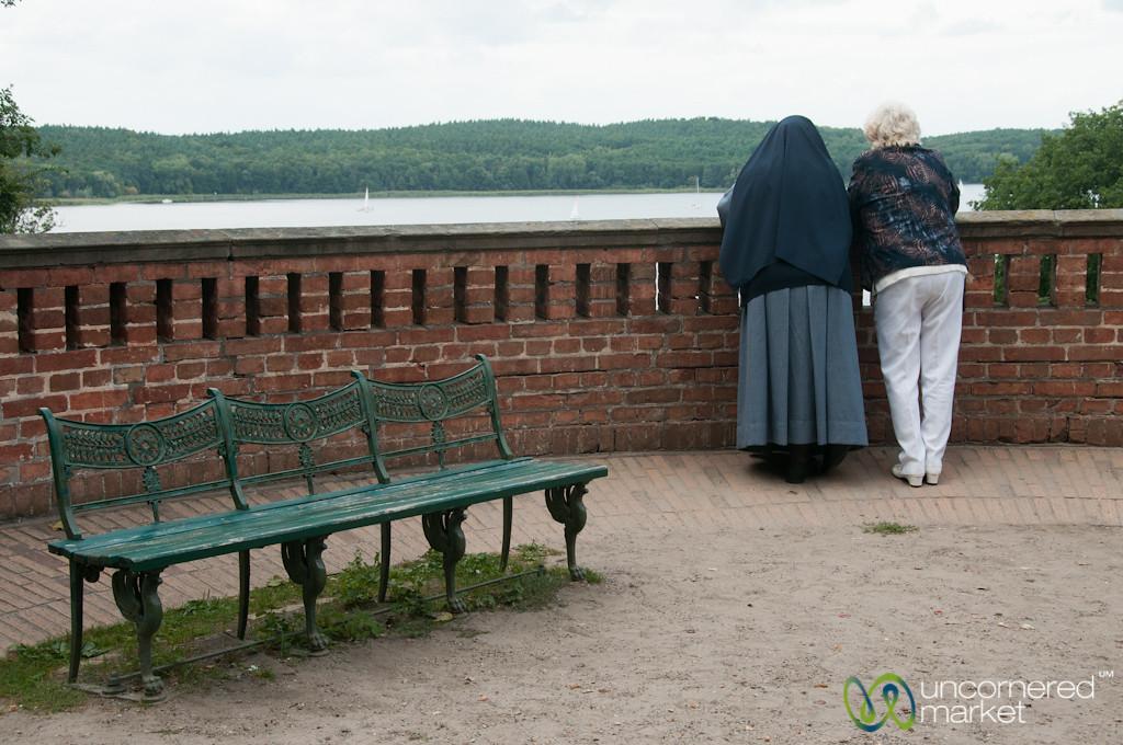 Nun and Friend Talking - Volkspark Glienecke, Berlin