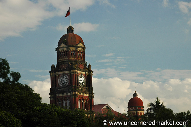 British Colonial Architecture - Rangoon, Burma (Yangon, Myanmar)