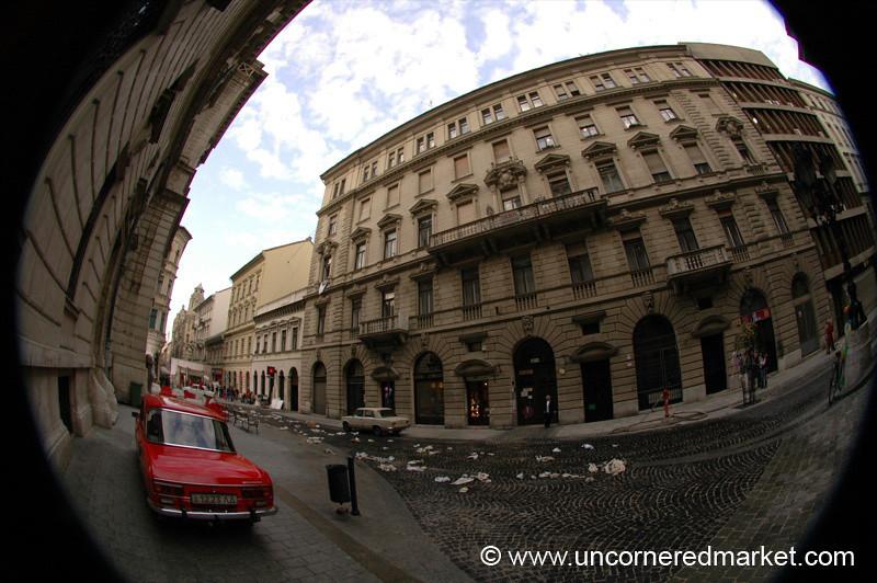 Classic Car at Opera Building - Budapest, Hungary