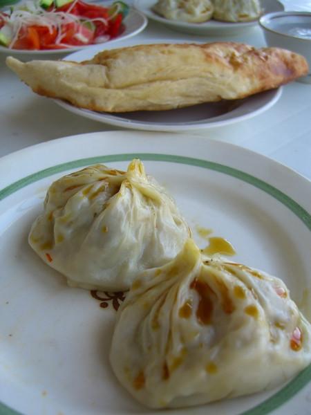 Manti (Stuffed Dumpling) - Samarkand, Uzbekistan