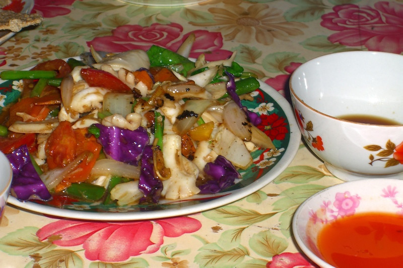 Squid and Vegetables - Hoi An, Vietnam