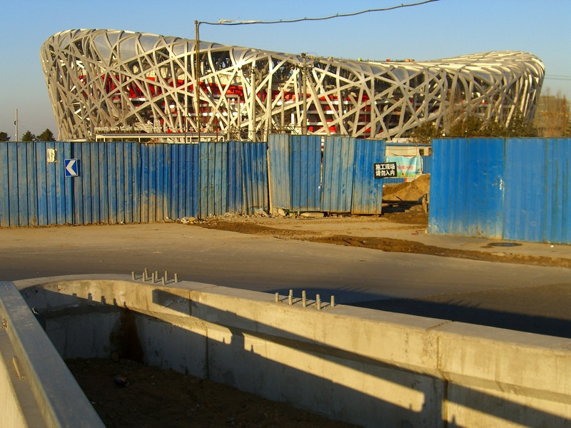 Olympic Stadium Under Construction - Beijing, China