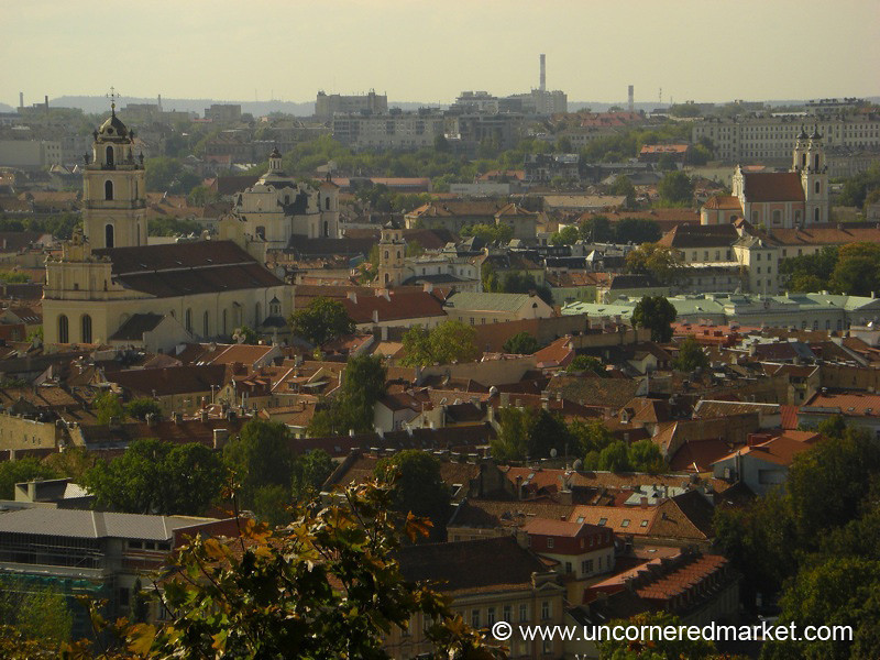 Steeples and Rooftops of Vilnius - Lithuania