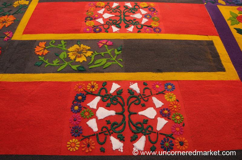 Colorful Alfombra Designs, Semana Santa - Antigua, Guatemala