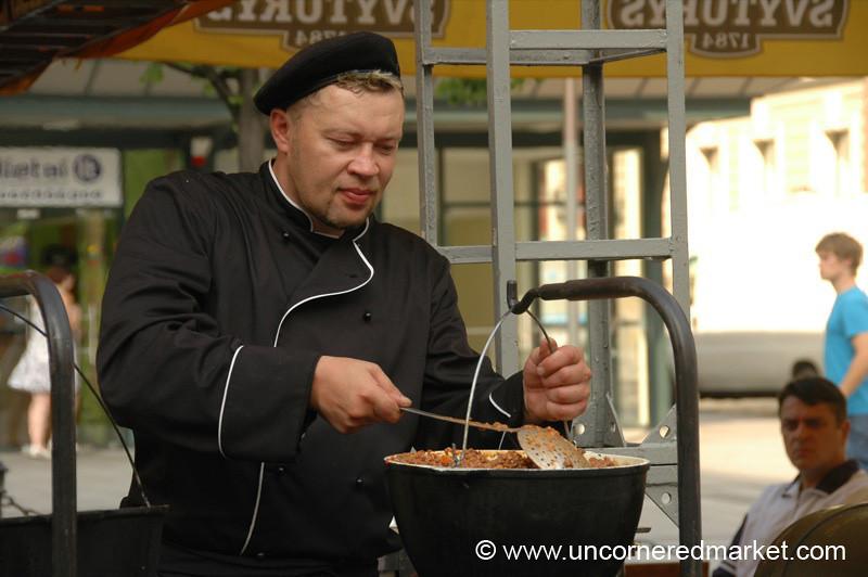 Street Food, Meatloaf in a Pot - Vilnius, Lithuania