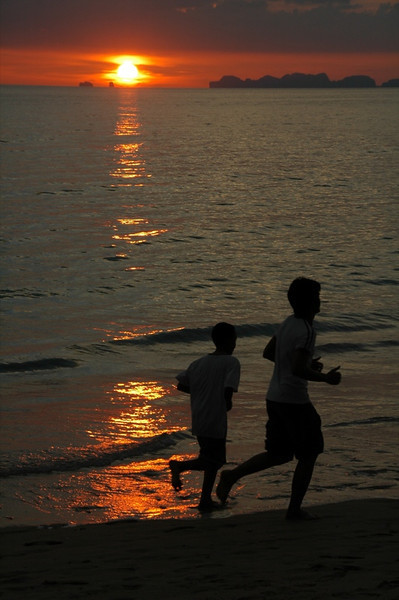 Jolly Joggers at Dusk - Ko Lanta, Thailand