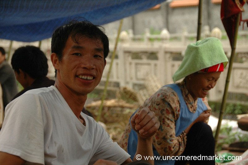 Friendly Chinese Vendor - Guizhou Province, China