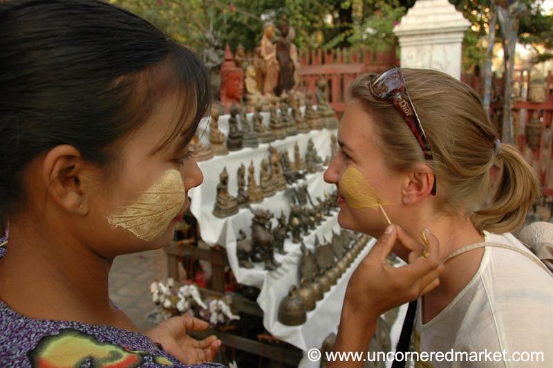 Thanaka on Audrey - Mandalay, Burma