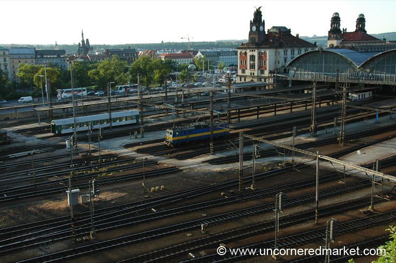 Prague's Main Train Station - Czech Republic
