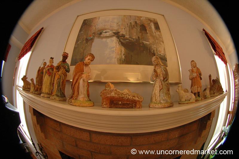 Fisheye Nativity Scene - Vienna, Virginia
