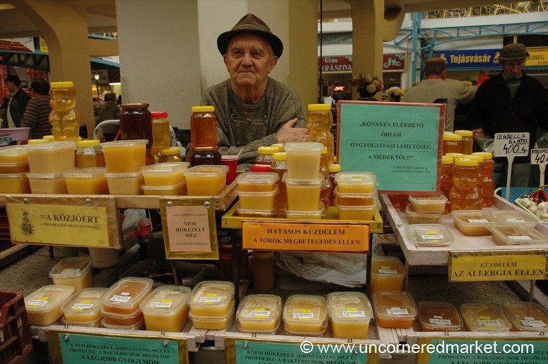 Honey Vendor, Lehel Market - Budapest, Hungary