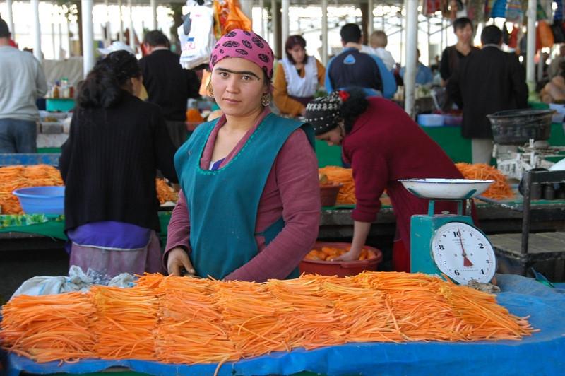 Chopping Carrots - Dushanbe, Tajikistan