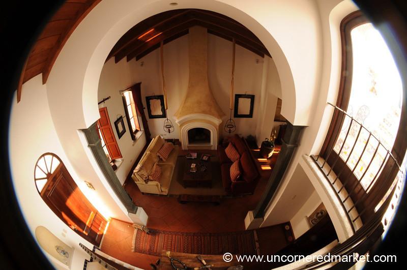 Living Room in Fisheye - Antigua, Guatemala