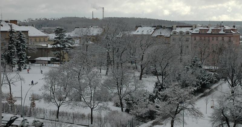 Snowy Day - Vrsovice, Prague