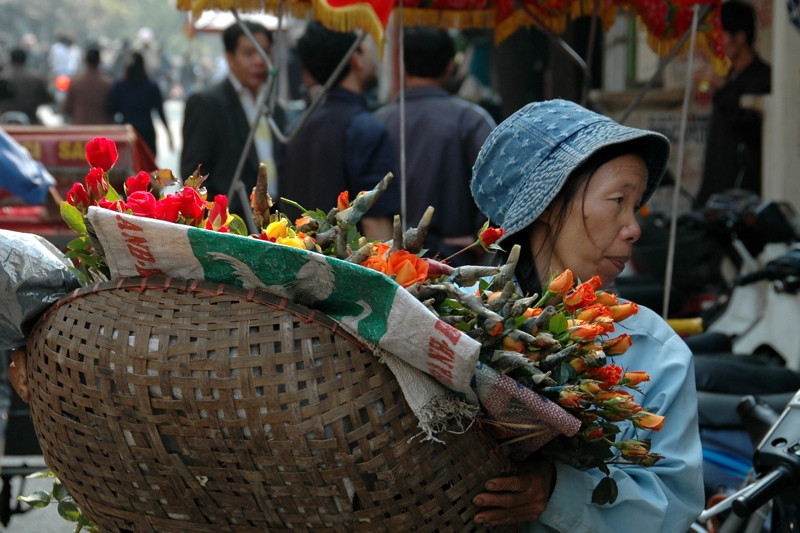 Flower Vendor - Hanoi, Vietnam