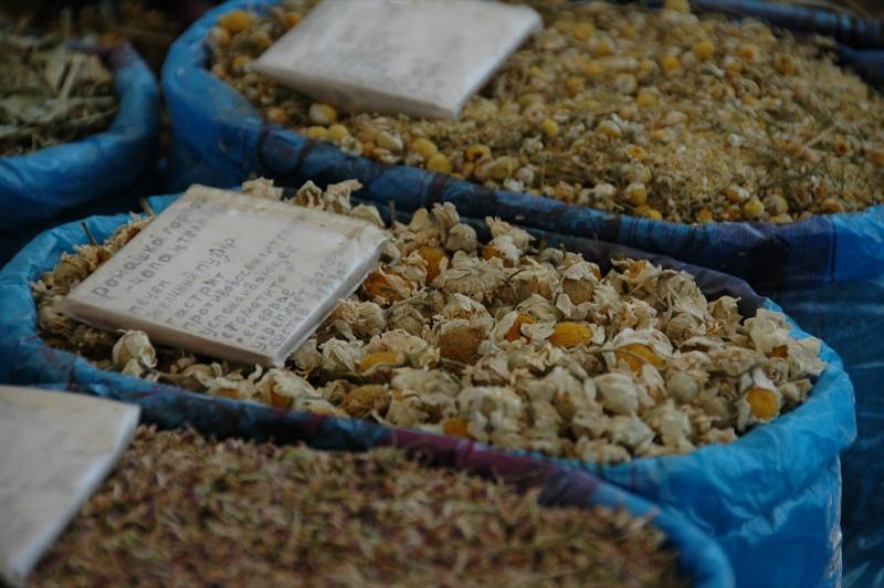 Herbal Teas for Sale at Gulustan Market - Ashgabat, Turkmenistan
