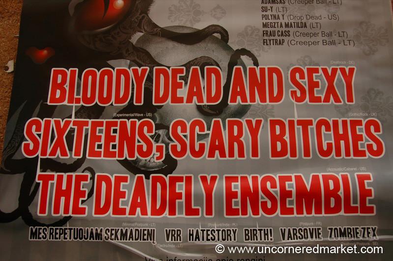 Crazy Band Poster - Vilnius, Lithuania