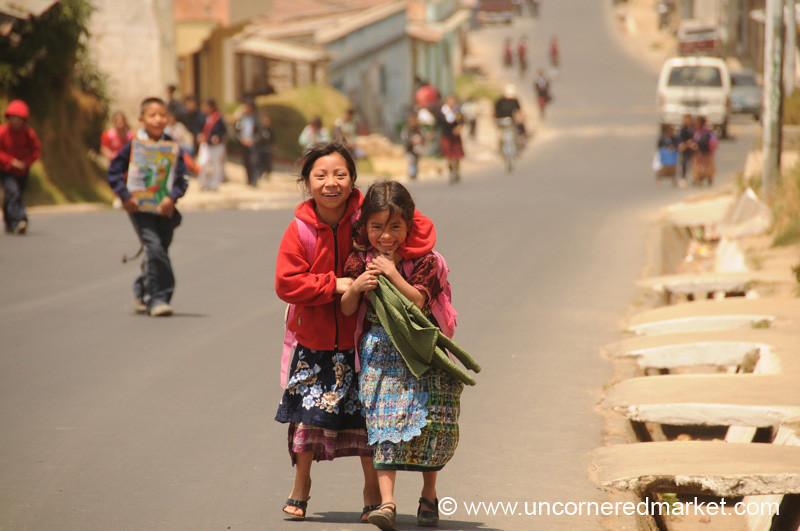 Playful Guatemalan Kids - Totonicapan, Guatemala