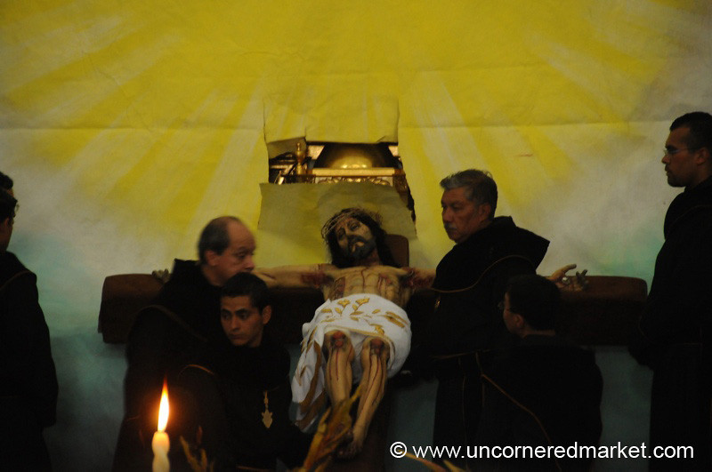 Semana Santa, Jesus on the Cross - Antigua, Guatemala