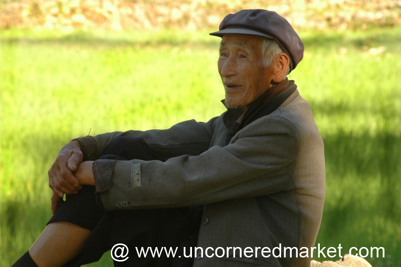 Elderly Chinese Man - Yuanyang, China