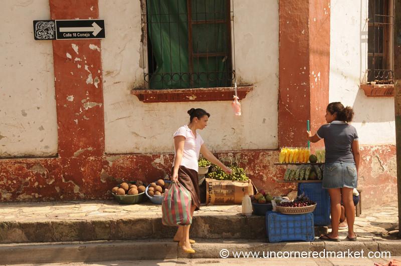 Fruit and Women, Market - Copan Ruinas, Honduras