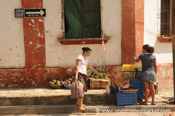 Fruit and Women, Market - Copan Ruinas, Honduras