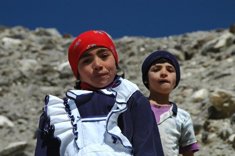 Pamiri Kids in Vrang - Pamir Mountains, Tajikistan