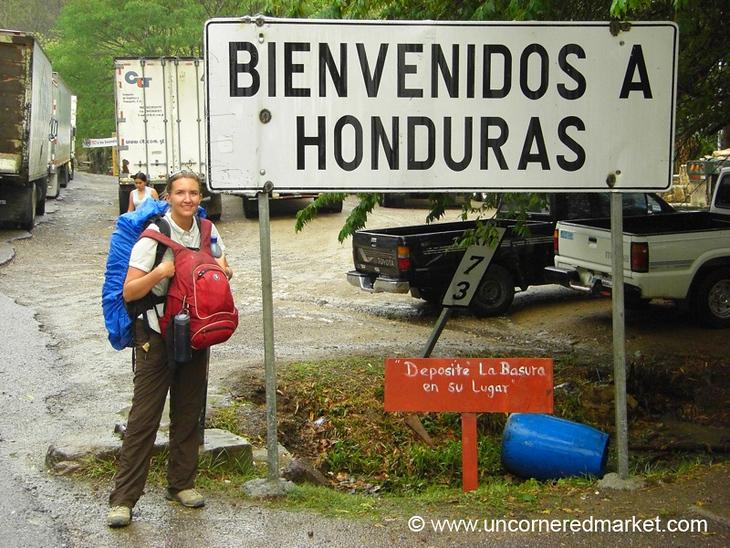 Welcome to Honduras Sign - Guatemala-Honduras Border