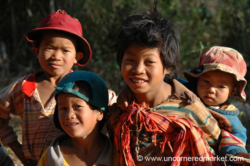 Family - Inle Lake, Burma