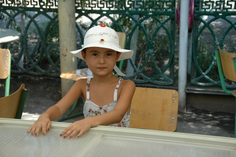 Cute Girl with a Hat - Nukus, Uzbekistan