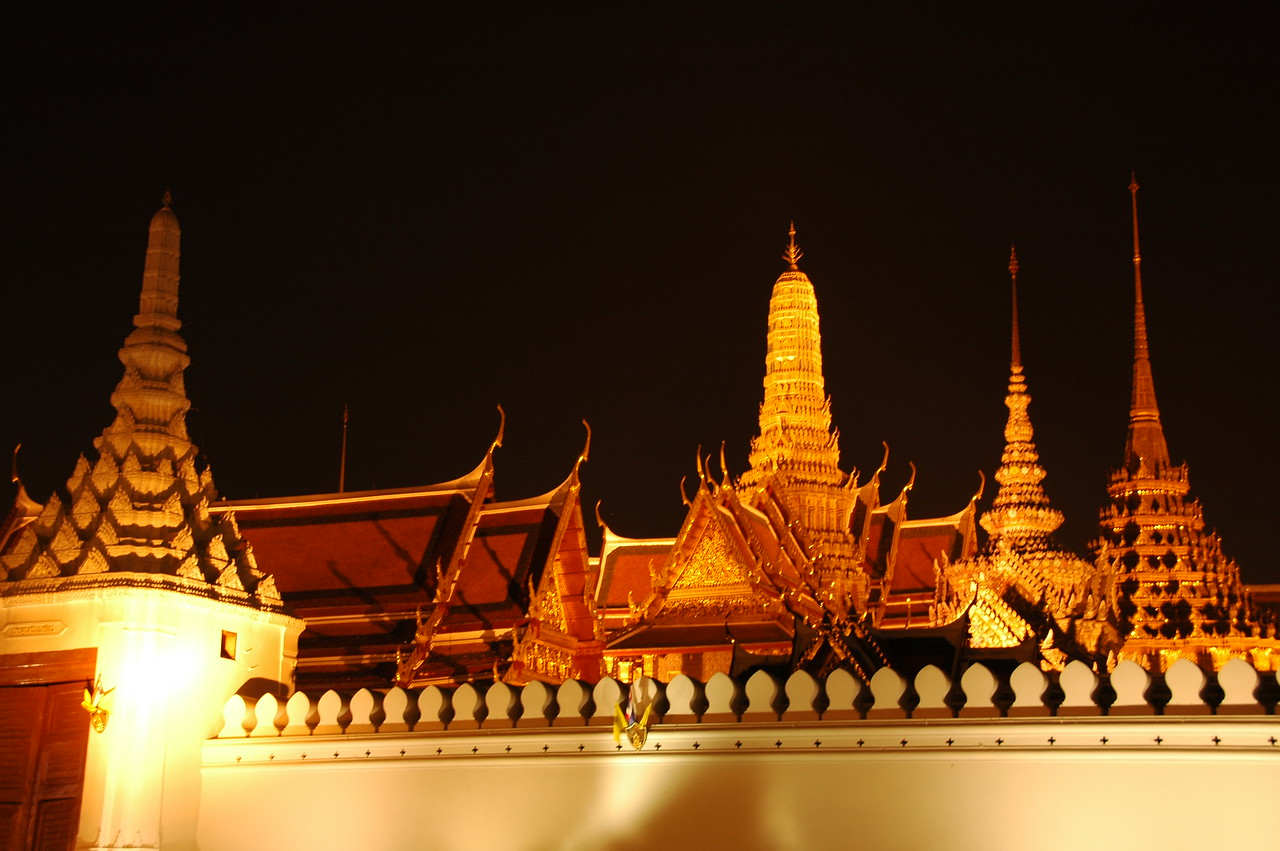 Grand Palace at Night - Bangkok, Thailand