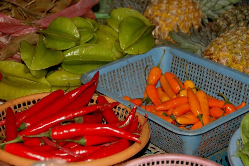 Chilies and Starfruit - Hanoi, Vietnam