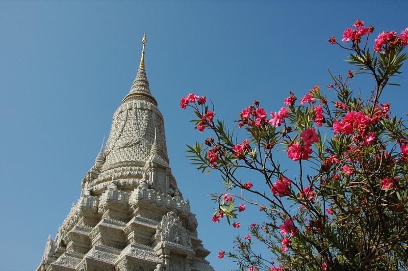 Stupas and Flowers - Phnom Penh, Cambodia