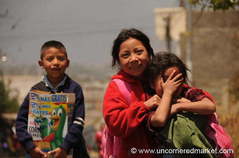 Guatemalan Kids Home from School - Totonicapan, Guatemala