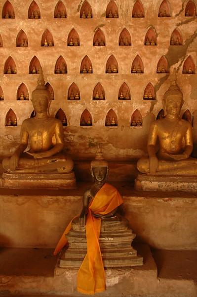 Buddha Statues at Wat Si Saket - Vientiane, Laos