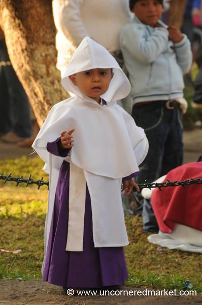 Semana Santa, Young Boy Dressed Up - Antigua, Guatemala