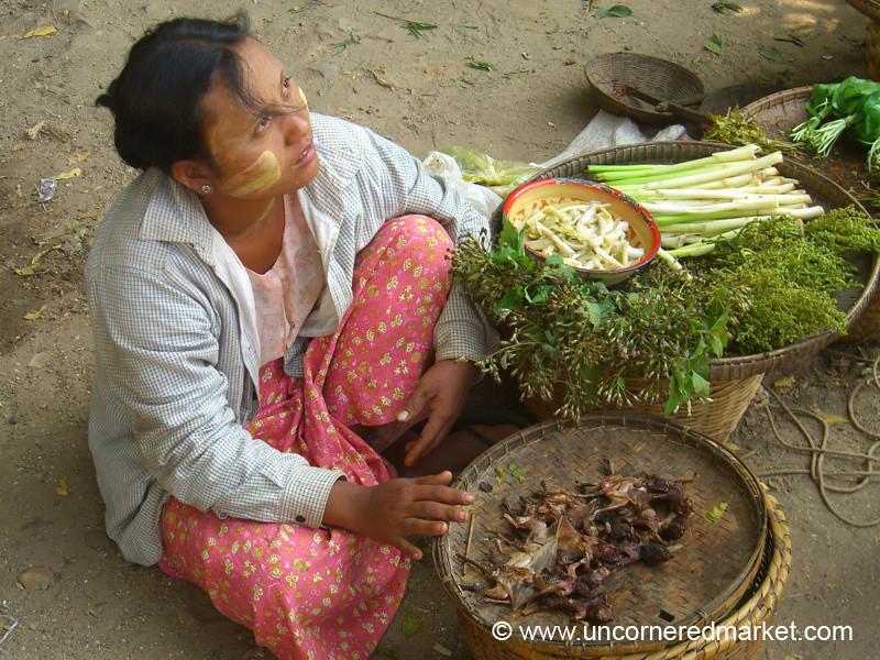 Smoked Bats at Market - Bagan, Burma