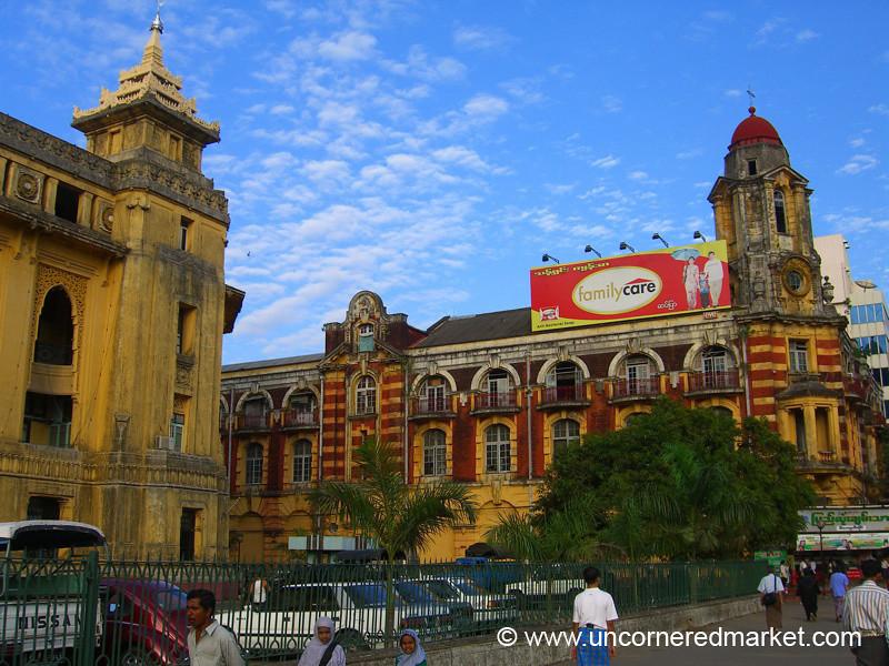 Downtown Rangoon Architecture - Rangoon, Burma (Yangon, Myanmar)