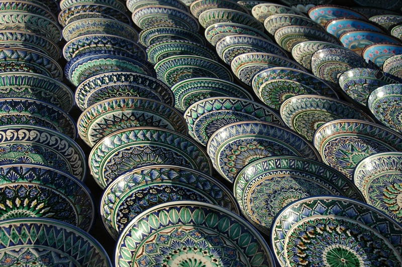 Uzbek and Tajik Ceramic Designs - Bukhara, Uzbekistan
