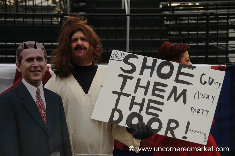 Protest Signs, Inauguration - Washington DC, USA