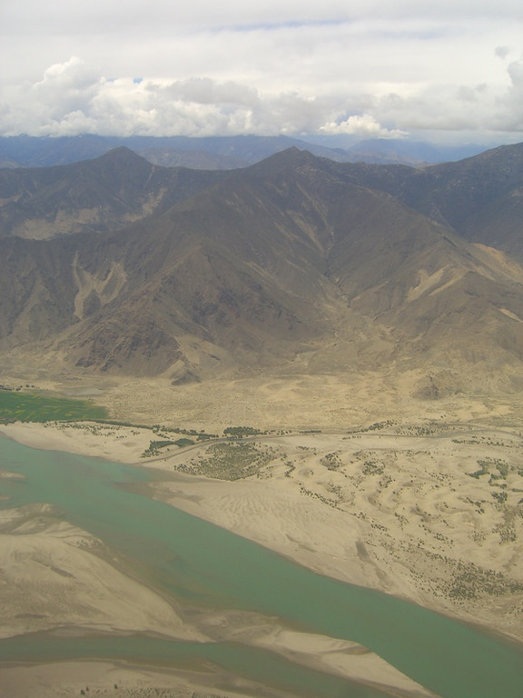Tibetan River Valley - Lhasa, Tibet