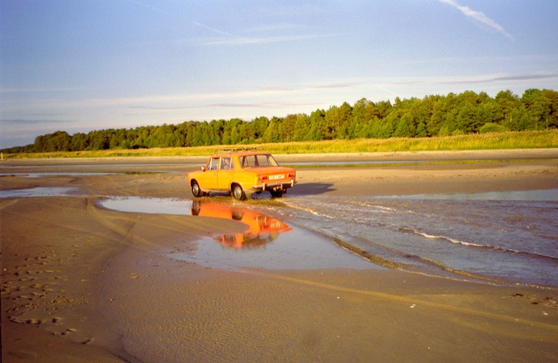 Lada on the Beach - Baltics, Estonia