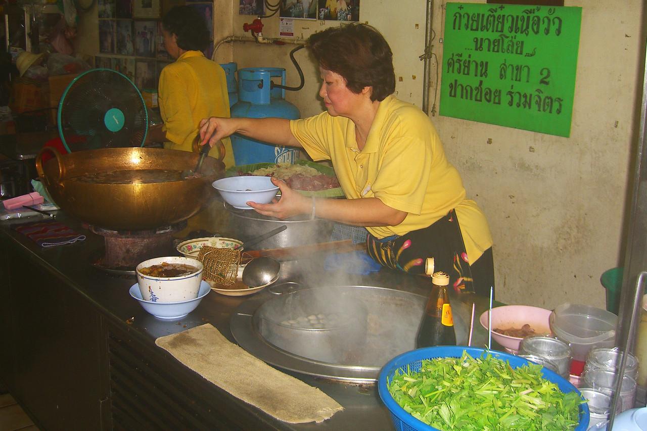 Woman Making Soup - Bangkok, Thailand