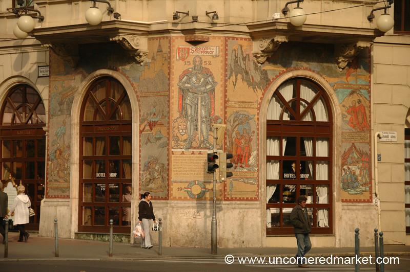 Mosaic Street Corner - Budapest, Hungary
