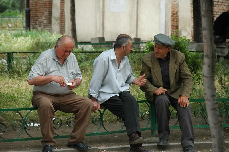 Men at the Park - Tbilisi, Georgia